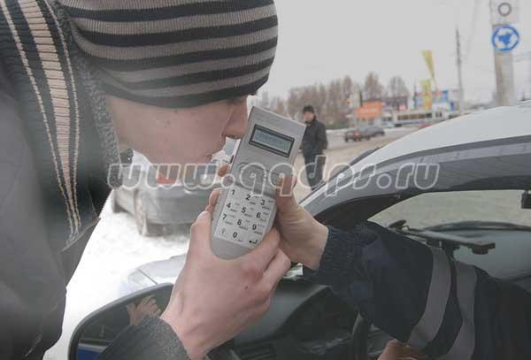 массовая проверка ГИБДД на алкоголь в Москве и Подмосковье
